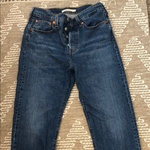 Levi Wedgie Straight Jeans